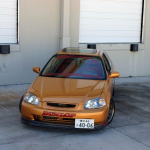Staged Racing Civic front