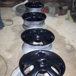 all 4 rims clear coated