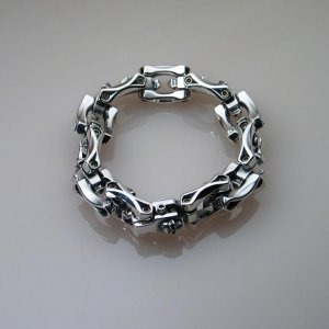 "Steel Flame ""Spike Bracelet""."