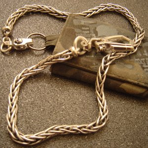 Steel Flame: wallet chain (.925)