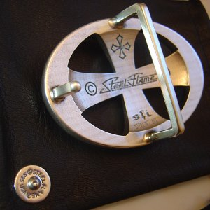 Steel Flame: Belt buckle (.925/ one off).