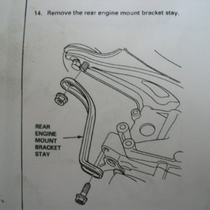 Rear Engine Bracket Mount Stay