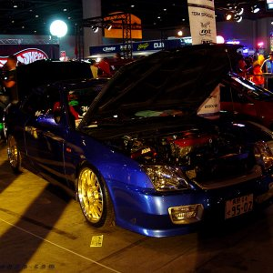 Hot Import Nights - 5g Honda Prelude w/ gold rims.