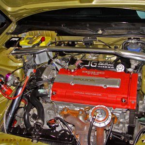 Hot Import Nights - Turbo Integra Engine Bay